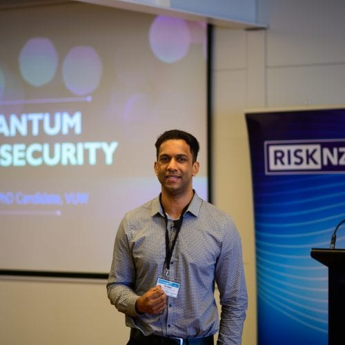 Del Rajan, PhD Student School of Mathematics and Statistics. Topic - Quantum cybersecurity