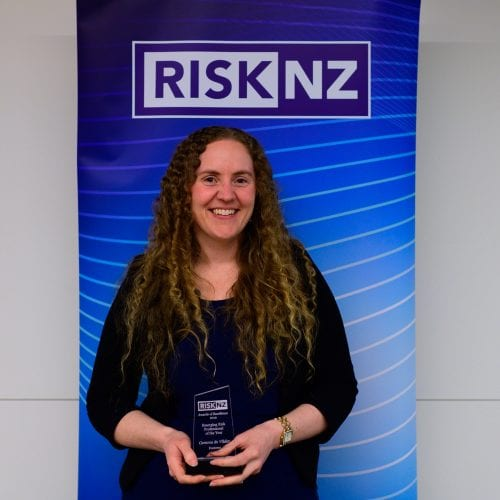 Gemma de Vilder, Fonterra - winner of the Emerging Risk Professional of the Year Award