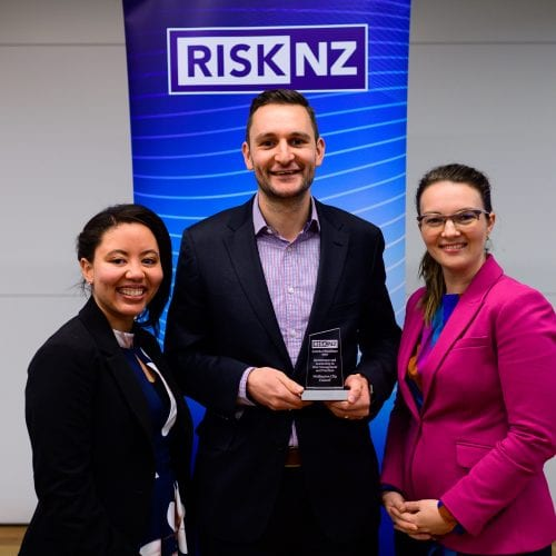 Wellington City Council team - winner of the Governance and Leadership in Risk Management and Practices Award