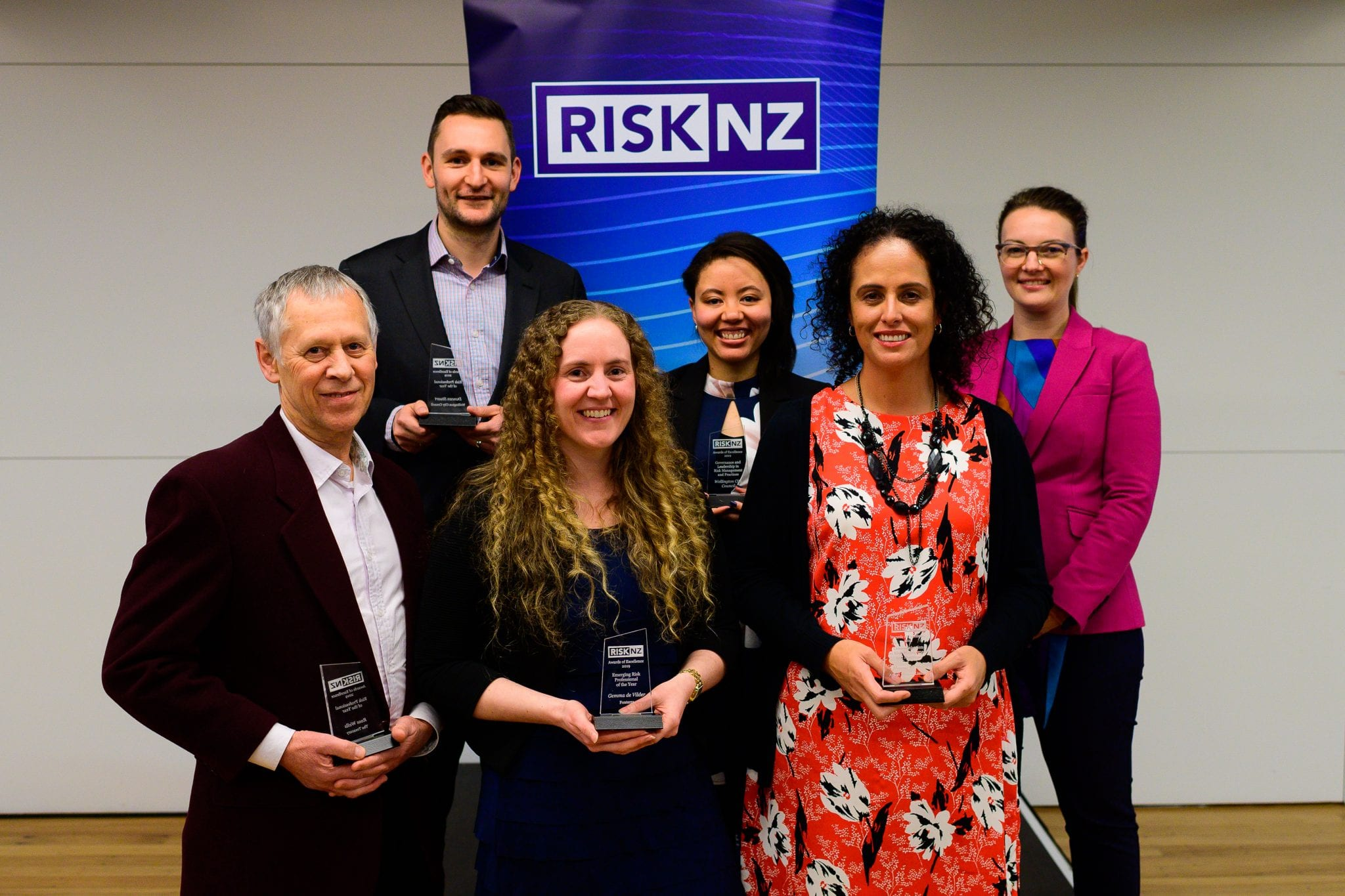 Winners of RiskNZ's Awards of Excellence 2019